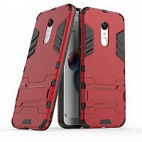 Чехол на ксиаоми Ударопрочный чехол-подставка Transformer для Xiaomi Redmi 5 Plus / Note 5 (SC) с защитой корпуса Красный / Dante Red