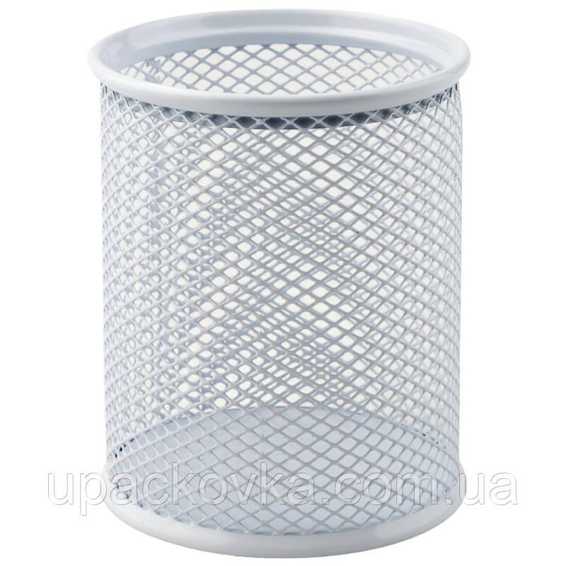 Подставка для ручек Axent 2110-21-A круглая, металлическая сеточка, 80х80х100мм, белый