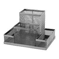 Подставка-органайзер Axent 2117-03-A, 155x103x100 мм, 4 отделения, серебристая