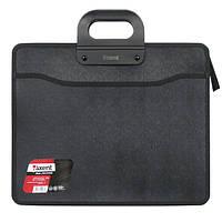 Портфель Axent 1603-01-A, В4, на молнии, на 3 отделения, черный