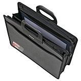 Портфель Axent 1603-01-A, В4, на молнии, на 3 отделения, черный, фото 2