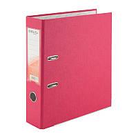 Папка-регистратор Delta D1714-05P односторонняя, PP, 7.5 см, разобранная, розовая