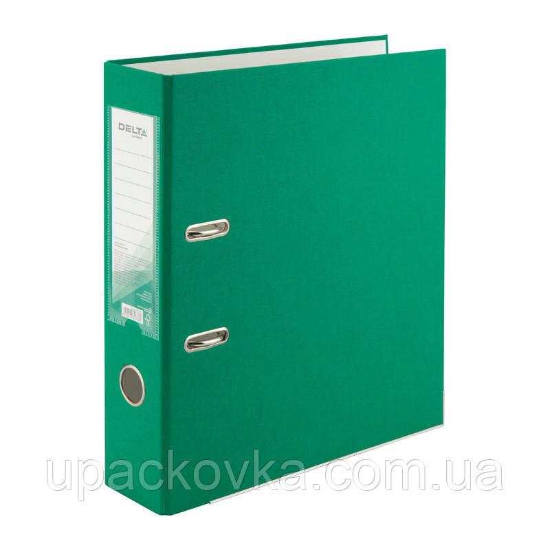 Папка-регистратор Delta D1714-04P односторонняя, PP, 7.5 см, разобранная, зеленая