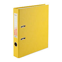 Папка-регистратор Delta D1713-08P односторонняя, PP, 5 см, разобранная, желтая