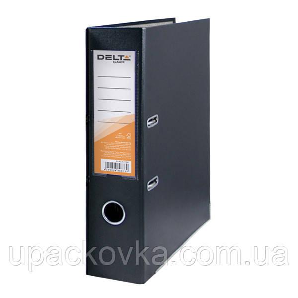Папка-регистратор Delta D1714-01C односторонняя, PP, 7.5 см, собранная, черная