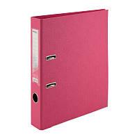Папка-регистратор Delta D1711-05P двусторонняя, PP, 5 см, разобранная, розовая