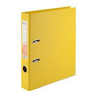Папка-регистратор Delta D1711-08P двусторонняя, PP, 5 см, разобранная, желтый