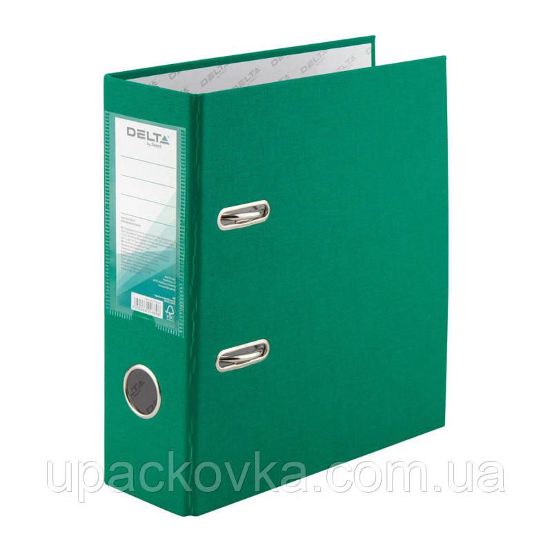 Папка-регистратор Delta D1718-04P односторонняя, А5, PP, 7.5 см, разобранная, зеленая