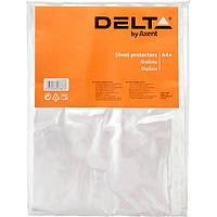 Файл Delta Эконом D1003 А4+, 100 штук, прозрачный, глянцевый