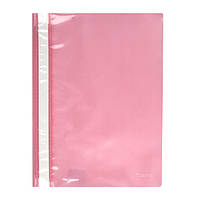 Скоросшиватель Axent 1317-23-A, A4, прозрачная лицевая сторона, розовый