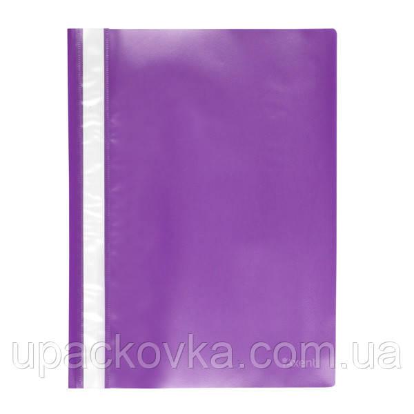 Скоросшиватель Axent 1317-29-A, A4, прозрачная лицевая сторона, фиолетовый