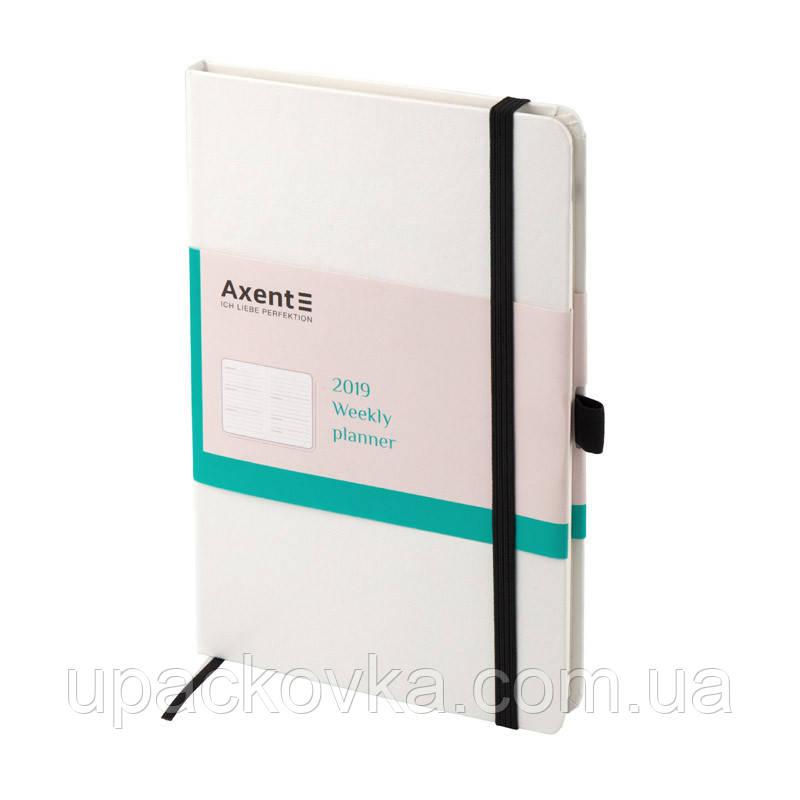 Ежедневник 2019 Axent Strong 8505-21-A, А5, 96 листов, белый