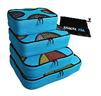 Комплект дорожных органайзеров для путешествий Shacke Pak (Голубой) (SP005), фото 1