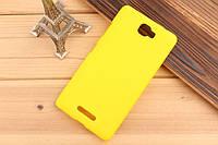 Чехол накладка бампер для Lenovo S856 жёлтый