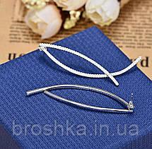 Длинные белые серьги джекеты линии ювелирная бижутерия, фото 2