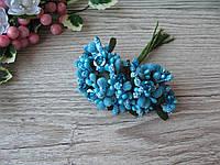 Тычинки сахарные сложные на веточках синие с розочкой. 14 грн