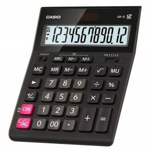 Калькулятор Casio  GR-12-W-EP бухгалтерский 12р., черный, фото 2