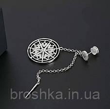 Моносерьга узор Mandala ювелирная бижутерия, фото 2