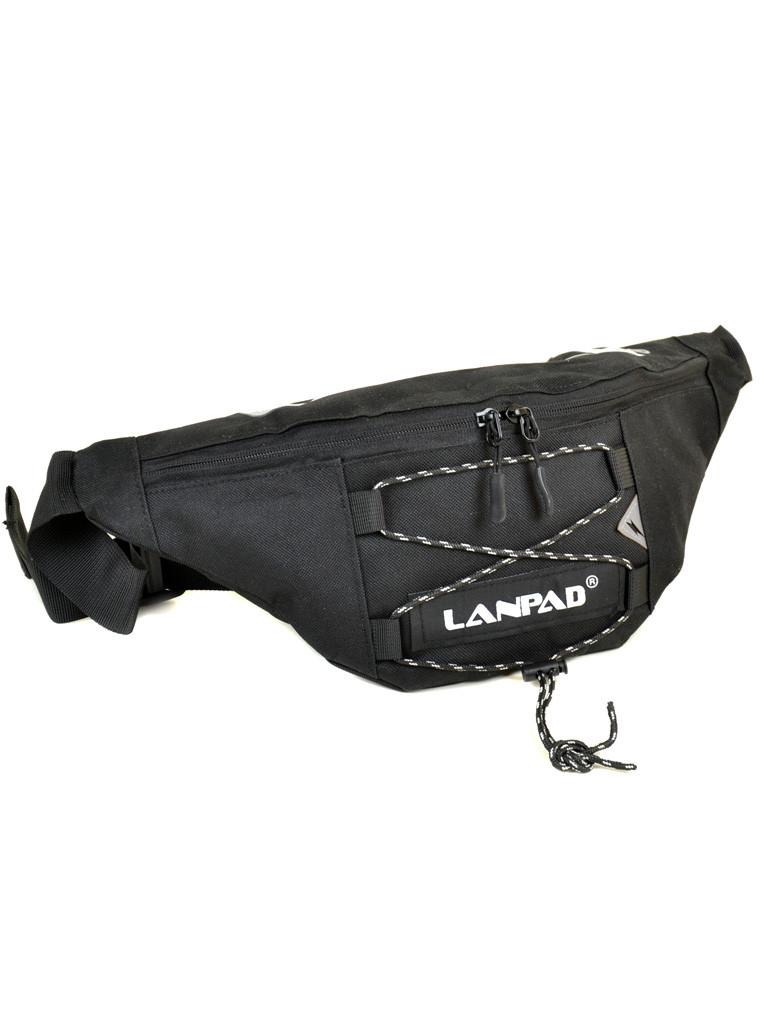 Сумка Мужская На пояс нейлон Lanpad 302 black Распродажа