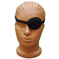 Повязка на один глаз, окклюдер на резинке 100% хлопок