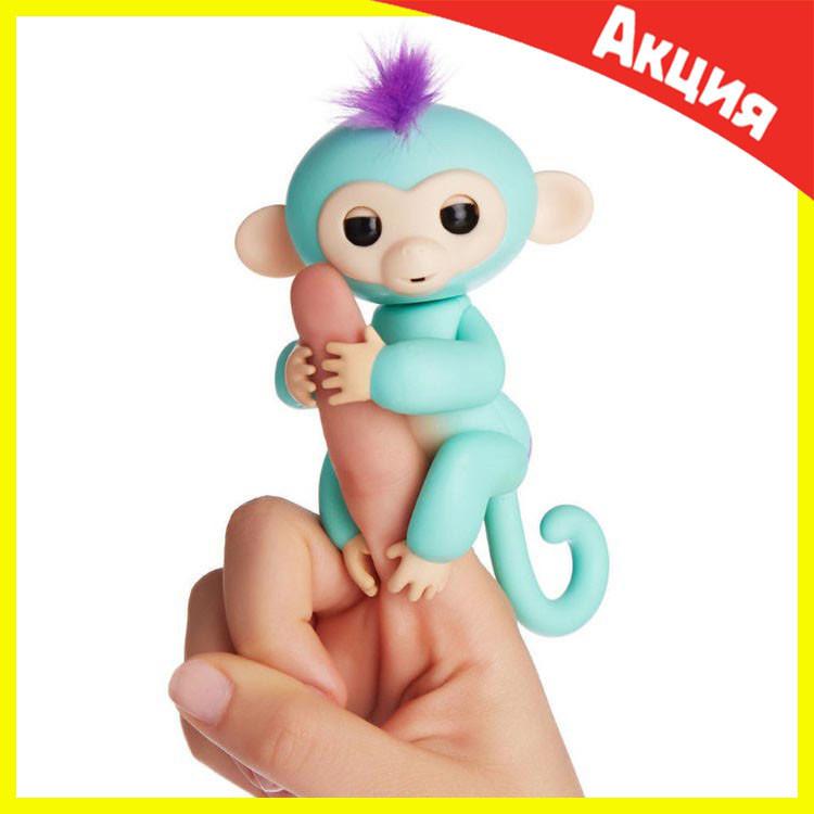 Интерактивная обезьянка Fingerlings (Зеленая)
