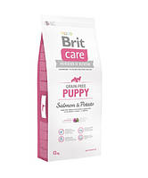 Brit Care (Брит Кеа) Puppy Salmon and Potato Беззерновой корм для щенков с лососем и картофелем 12кг, фото 1