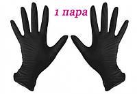 Перчатки нитриловые черные SafeTouch® Advanced Black без пудры 2 штуки (1 пара) размер S, фото 1