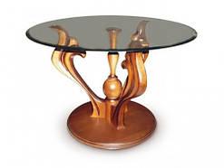 Журнальный столик Лотос со стеклом