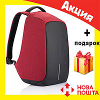 Рюкзак Bobby Антивор красный с USB портом, фото 1