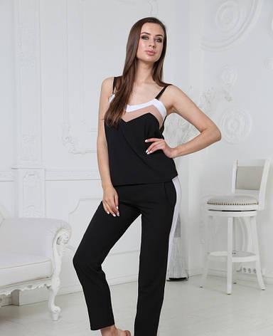 Легкий летний женский костюм с брюками, фото 2