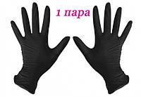 Перчатки нитриловые черные SafeTouch® Advanced Black без пудры 2 штуки (1 пара) размер M, фото 1