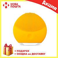 Электрическая щетка | массажер для очистки кожи лица Foreo LUNA Mini 2, Желтый, фото 1