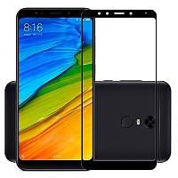 Защитное цветное стекло Mocolo (full glue) на весь экран для Xiaomi Redmi 5 Plus / Redmi Note 5 (SC) Черный (25965)