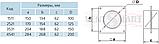 Соединитель настенный с обратным клапаном для круглых каналов ПЛАСТИВЕНТ, фото 3
