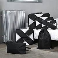 Дорожный органайзер для путешествий (органайзер для сумки и чемодана) P.travel (Черный), фото 1