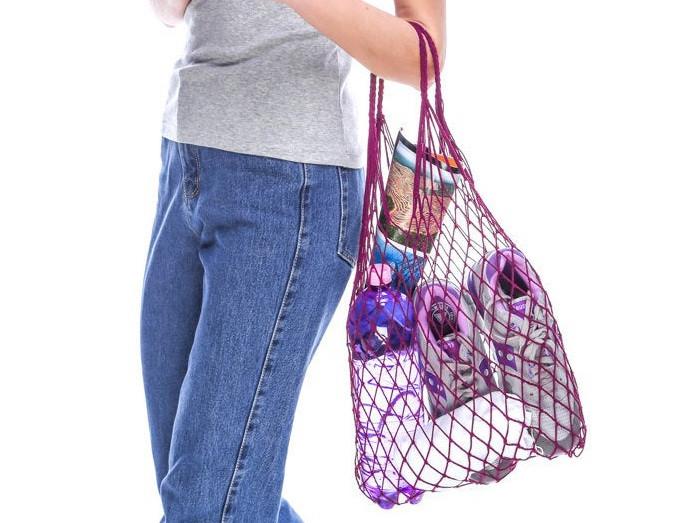 Сумка-шопер - Авоська - Эко-сумка - Летняя сумка - Пурпурная (фиолетовая) сумка