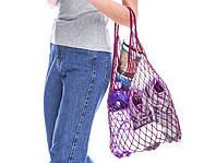 Сумка-шопер - Авоська - Эко-сумка - Летняя сумка - Пурпурная (фиолетовая) сумка, фото 1