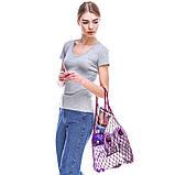 Сумка-шопер - Авоська - Эко-сумка - Летняя сумка - Пурпурная (фиолетовая) сумка, фото 2