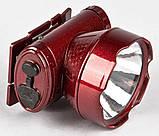 Налобный аккумуляторный фонарь YAJIA YJ-1898-1 | фонарик на лоб, фото 2