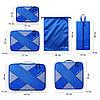 Комплект дорожных органайзеров для путешествий (органайзер для сумки и чемодана) P.travel (Синий)