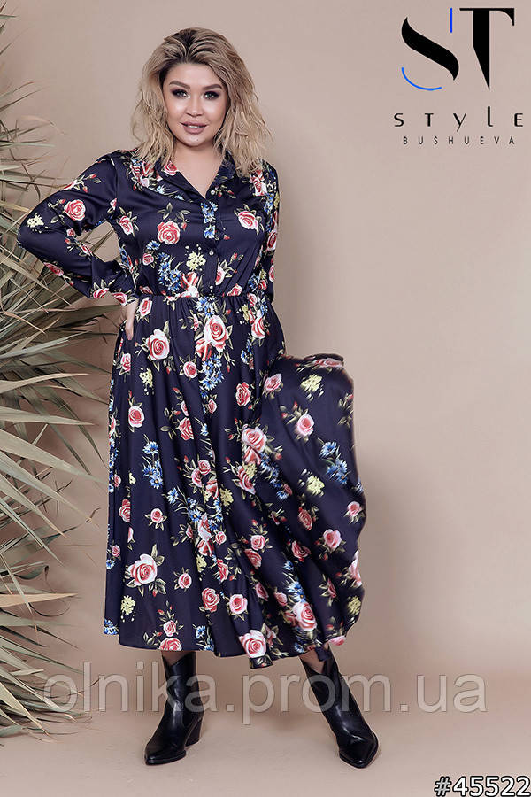 Платье  45522 размер 52-54