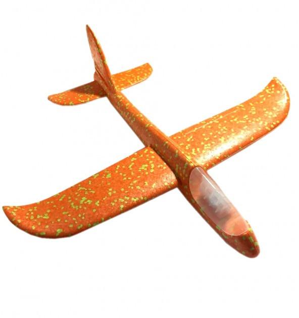 Детский самолет-планер с LED подсветкой Оранжевый (2365-2)