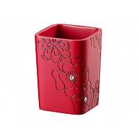 Стакан для ванной красный BLOOM 02873