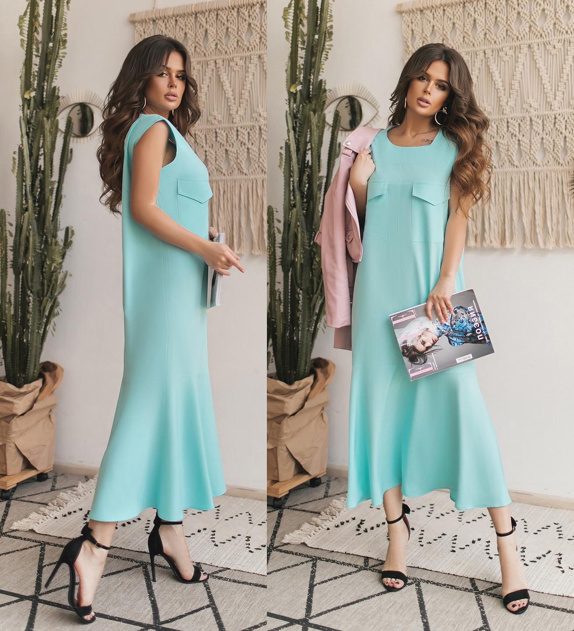 Женское длинное летнее платье.Размеры: 42-48.+Цвета