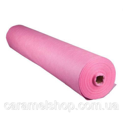 Одноразовые простыни MEDICOM Economy 20 г/м кв. ширина 60 см * 100 м цвет розовый