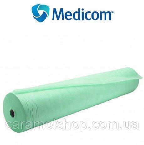 Одноразовые простыни MEDICOM Economy 20 г/м кв. ширина 60 см * 100 м цвет зеленый