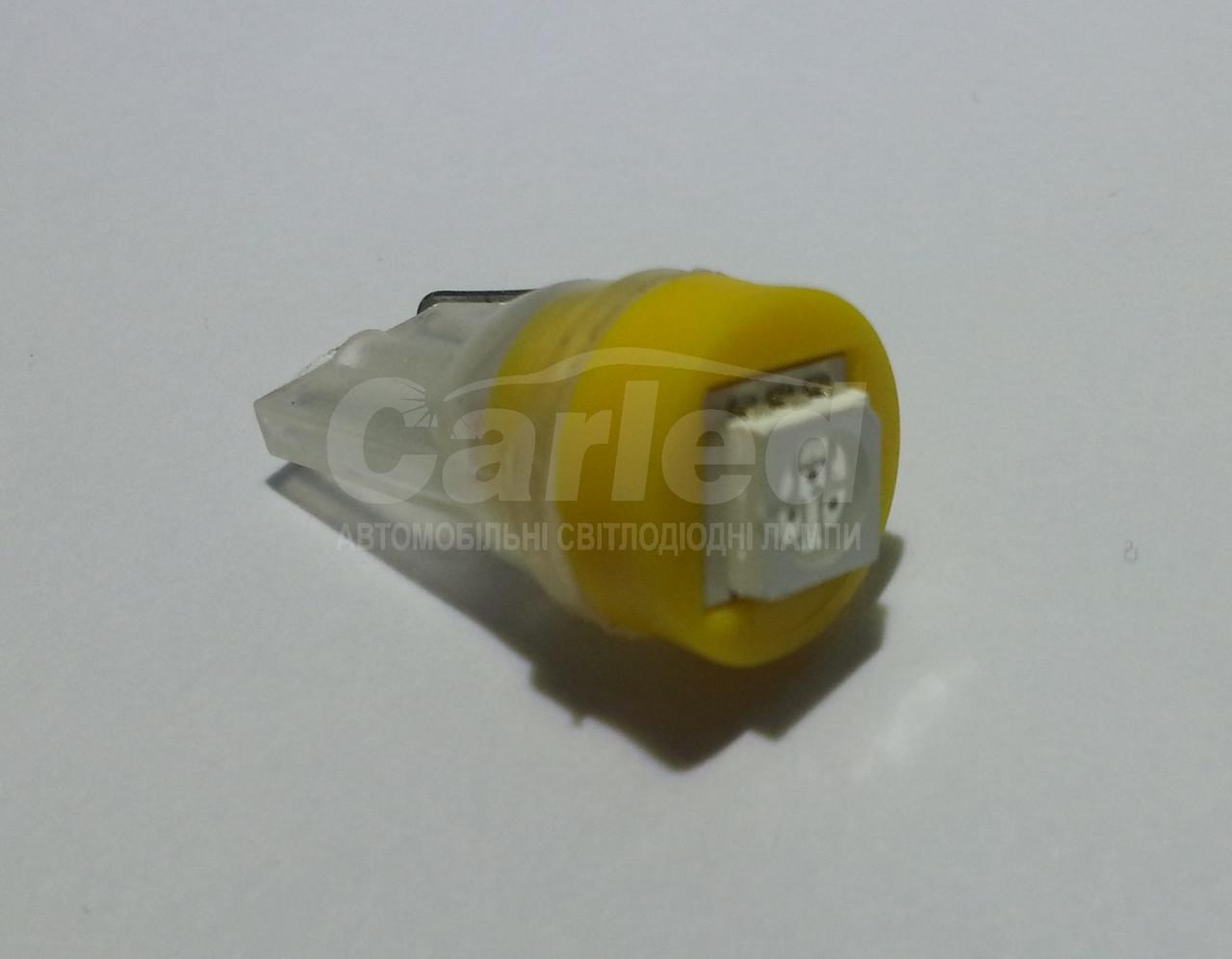 Світлодіодна автолампа Т10, YELLOW 1pcs 5050 (Foton)