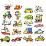 Набор магнитных фигурок Viga Toys Транспорт 20 шт, фото 2