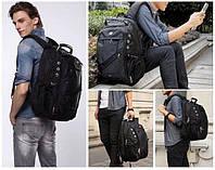 Рюкзак неоплачений SwissGear + чохол антидощ (USB/AUX вихід), фото 1