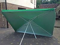 Зонт прямоугольный 2х3 м. Серебренное покрытие. Цвет: Зеленый
